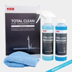 KGS Total Clean Reinigingsset voor graniet, composiet en marmer